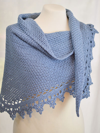 Crochet Lace Weight Shawl Pattern : Crochet - Black Raspberry Shawl - #REC0924