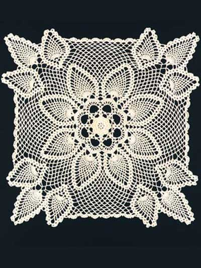 Free Crochet Pattern Rectangular Doily Pakbit For