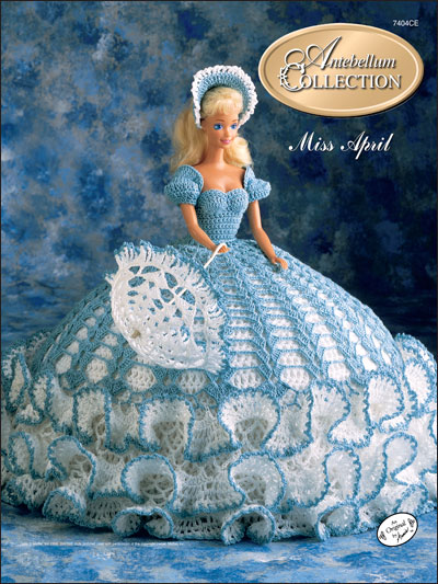 Crochet Dolls Toys Bed Doll Patterns The Antebellum Collection Miss April 1991
